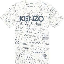 ケンゾー Kenzo メンズ Tシャツ ロゴTシャツ トップス【All Over Print Logo Tee】White