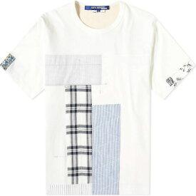 ジュンヤ ワタナベ Junya Watanabe MAN メンズ Tシャツ トップス【Patchwork Tee】White/Blue