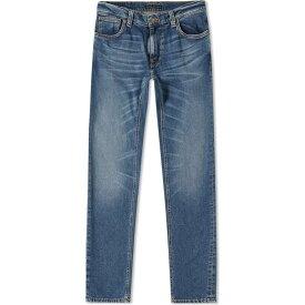 ヌーディージーンズ Nudie Jeans Co メンズ ジーンズ・デニム ボトムス・パンツ【nudie thin finn jean】Mid Blue Ecru