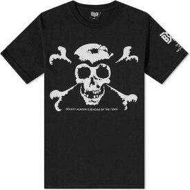 バウンティーハンター Bounty Hunter メンズ Tシャツ トップス【d-beat old skull tee】Black