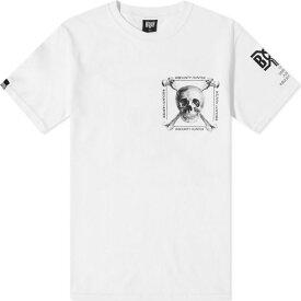 バウンティーハンター Bounty Hunter メンズ Tシャツ トップス【real skull tee】White