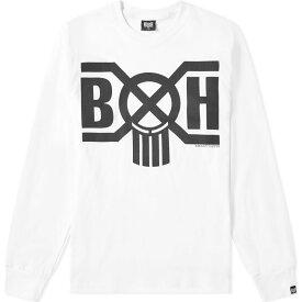 バウンティーハンター Bounty Hunter メンズ 長袖Tシャツ ロゴTシャツ トップス【long sleeve bxh logo tee】White