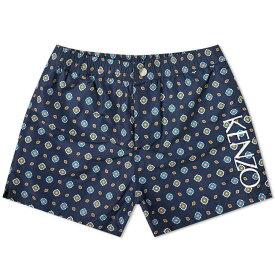 ケンゾー Kenzo メンズ 海パン 水着・ビーチウェア【geometric swim short】Midnight Blue
