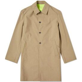 ケンゾー Kenzo メンズ レインコート アウター【neon taping rain coat】Dark Beige/Yellow