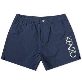 ケンゾー Kenzo メンズ 海パン 水着・ビーチウェア【logo swim short】Midnight Blue