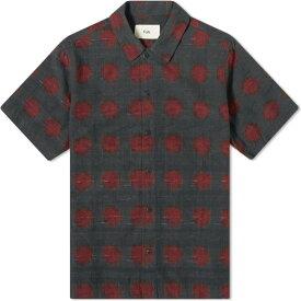 フォーク Folk メンズ 半袖シャツ トップス【gabe printed vacation shirt】Dot Dash Ikat
