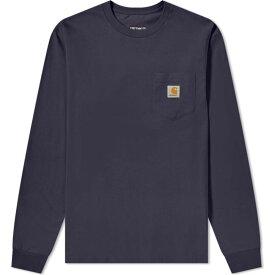 カーハート Carhartt WIP メンズ 長袖Tシャツ ポケット トップス【Long Sleeve Pocket Tee】Dark Navy
