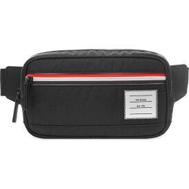 トム ブラウン Thom Browne メンズ ボディバッグ・ウエストポーチ トリコロール バッグ【Tricolour Zip Waist Bag】Black