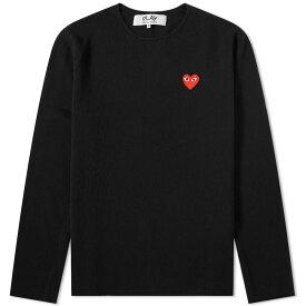 コム デ ギャルソン Comme des Garcons Play メンズ スウェット・トレーナー トップス【knitted crew sweat】Black