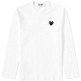 コム デ ギャルソン Comme des Garcons Play メンズ 長袖Tシャツ トップス【long sleeve tee】White/Black