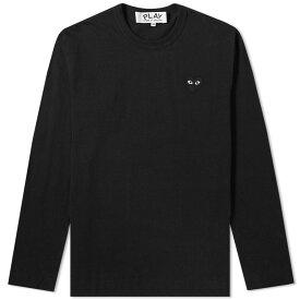コム デ ギャルソン Comme des Garcons Play メンズ 長袖Tシャツ トップス【long sleeve tee】Black/Black