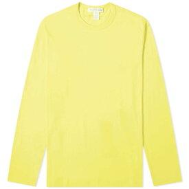 コム デ ギャルソン Comme des Garcons SHIRT メンズ 長袖Tシャツ ロゴTシャツ トップス【long sleeve logo tee】Yellow