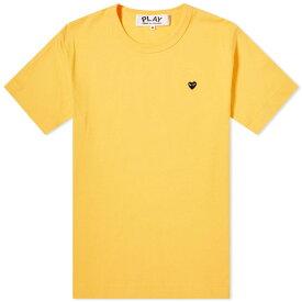 コム デ ギャルソン Comme des Garcons Play メンズ Tシャツ トップス【colour series little black heart tee】Yellow