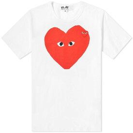 コム デ ギャルソン Comme des Garcons Play メンズ Tシャツ ロゴTシャツ トップス【big heart logo tee】White/Red