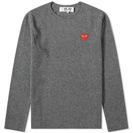 コム デ ギャルソン Comme des Garcons Play メンズ スウェット・トレーナー トップス【knitted crew sweat】Grey