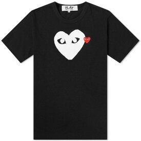 コム デ ギャルソン Comme des Garcons Play メンズ Tシャツ ロゴTシャツ トップス【double heart logo tee】Black/White/Red
