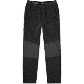 マハリシ Maharishi メンズ スウェット・ジャージ ボトムス・パンツ【Sherpa Fleece Track Pant】Black