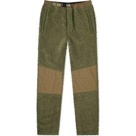 マハリシ Maharishi メンズ スウェット・ジャージ ボトムス・パンツ【Sherpa Fleece Track Pant】Maha Olive
