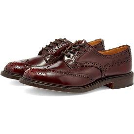 トリッカーズ Trickers メンズ 革靴・ビジネスシューズ メダリオン ダービーシューズ シューズ・靴【Bourton Derby Brogue】Burgundy Bookbinder