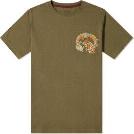 マハリシ Maharishi メンズ Tシャツ トップス【Embroidered Souvenir Tee】Maha Olive