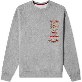 マハリシ Maharishi メンズ スウェット・トレーナー トップス【World Tribe Embroidered Crew Sweat】Grey Marl
