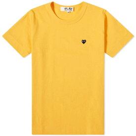 コム デ ギャルソン Comme des Garcons Play レディース Tシャツ ロゴTシャツ トップス【colour series logo tee】Yellow/Black