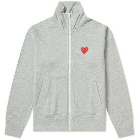 コム デ ギャルソン Comme des Garcons Play レディース ジャージ アウター【red heart zip backprint track top】Grey