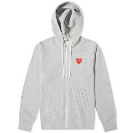コム デ ギャルソン Comme des Garcons Play レディース パーカー トップス【red heart full zip backprint hoody】Grey