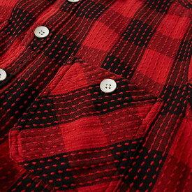 サスクワッチファブリックス Sasquatchfabrix. メンズ シャツ トップス【sasquatchfabrix sashiko block check shirt】Red/Black