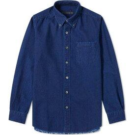 ソフネット SOPHNET. メンズ シャツ トップス【Back Hem Panelled Shirt】Indigo