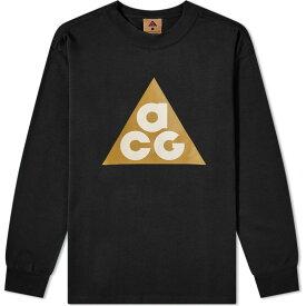 ナイキ Nike メンズ 長袖Tシャツ ロゴTシャツ トップス【acg long sleeve big logo tee】Black