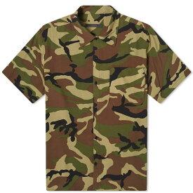ソフネット SOPHNET. メンズ 半袖シャツ トップス【camoflage rayon wide box shirt】Khaki