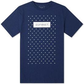 ソフネット SOPHNET. メンズ Tシャツ ロゴTシャツ トップス【authentic logo dot tee】Navy