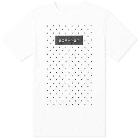 ソフネット SOPHNET. メンズ Tシャツ ロゴTシャツ トップス【authentic logo dot tee】White