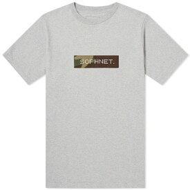 ソフネット SOPHNET. メンズ Tシャツ ロゴTシャツ トップス【camouflage box logo tee】Grey