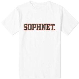 ソフネット SOPHNET. メンズ Tシャツ ロゴTシャツ トップス【logo tee】White