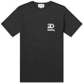 ソフネット SOPHNET. メンズ Tシャツ ロゴTシャツ トップス【soph.20 square chest logo tee】Black