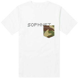 ソフネット SOPHNET. メンズ Tシャツ ポケット トップス【camouflage pocket tee】White