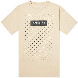 ソフネット SOPHNET. メンズ Tシャツ ロゴTシャツ トップス【authentic logo dot tee】Beige