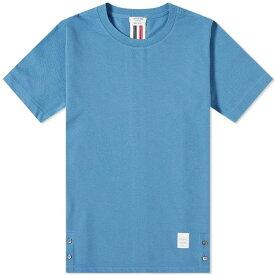トム ブラウン Thom Browne メンズ Tシャツ トップス【back stripe pique tee】Dark Blue
