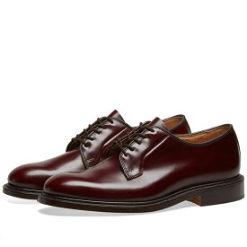 トリッカーズ Trickers メンズ シューズ・靴 革靴・ビジネスシューズ【Tricker's Robert Derby Shoe】Burgundy Bookbinder