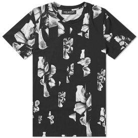 ニール バレット Neil Barrett メンズ Tシャツ トップス【hibiscus all over print tee】Black/White
