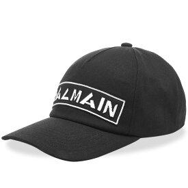 バルマン Balmain メンズ キャップ ベースボールキャップ 帽子【badge baseball cap】Black