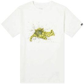 バンズ ボルト Vans Vault メンズ Tシャツ トップス【x ralph steadman leopard tee】White
