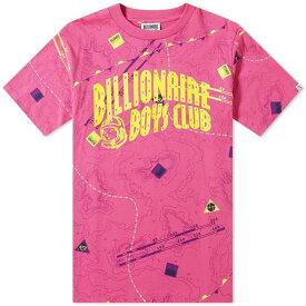 ビリオネアボーイズクラブ Billionaire Boys Club メンズ Tシャツ ロゴTシャツ トップス【nautical arch logo tee】Pink