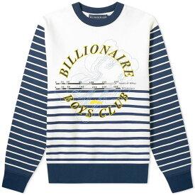 ビリオネアボーイズクラブ Billionaire Boys Club メンズ スウェット・トレーナー トップス【cut & sew stripe sweat】White