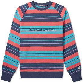 ビリオネアボーイズクラブ Billionaire Boys Club メンズ スウェット・トレーナー トップス【multi stripe raglan sweat】Navy