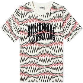 ビリオネアボーイズクラブ Billionaire Boys Club メンズ Tシャツ ロゴTシャツ トップス【soundwave arch logo tee】White Marl