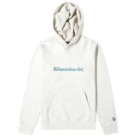 ビリオネアボーイズクラブ Billionaire Boys Club メンズ パーカー トップス【embroidered popover hoody】White Marl
