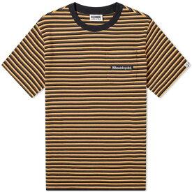 ビリオネアボーイズクラブ Billionaire Boys Club メンズ Tシャツ トップス【woven stripe tee】Black